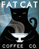 Cat Coffee Reproduction d'art par Ryan Fowler