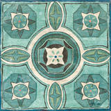 Tuscan Tile Blue Green IV