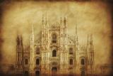 Vintage Photo of Duomo Di Milano  Milan  Italy