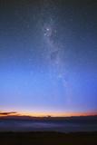 The Eta Carina Nebula and the Milky Way Visible at Dawn