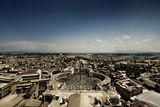 Aerial View of St Peter's Square  Rome  Italy