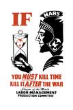 World War II Poster of the Roman God of War Holding an Hourglass