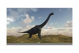 Large Brachiosaurus in a Barren Evnironment
