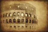 Vintage Photo of Coliseum in Rome  Italy