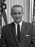 Digitally Restored American History Photo of President Lyndon B Johnson