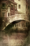 Vintage Shot of Venetian Canal  Venice  Italy