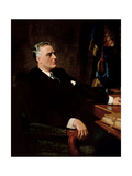 Digitally Restored American History Painting of President Franklin Roosevelt