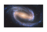 Artist's Painting of NGC 1300  a Barred Spiral Galaxy