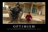 Optimism: Inspirational Quote and Motivational Poster