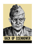 World War II Propaganda Poster Featuring General Dwight Eisenhower