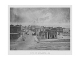 Vintage American Civil War Print of the City of Atlanta  Georgia  Circa 1863