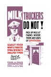 Wpa Propaganda Poster of a Milk Truck Driver and the Doorway of a House