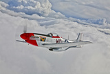 A P-51D Mustang in Flight Near Hollister  California