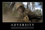 Adversity: Inspirational Quote and Motivational Poster