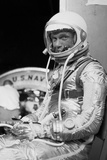 Digitally Restored Photo of Astronaut John Glenn Wearing a Spacesuit