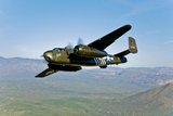 North American B-25G Mitchell Bomber in Flight Near Mesa  Arizona