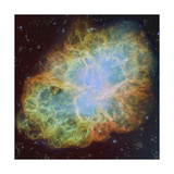 Artist's Painting of the Crab Nebula