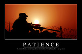 Patience: Inspirational Quote and Motivational Poster