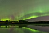 Aurora Borealis over Fish Lake  Whitehorse  Yukon  Canada