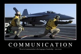 Communication: Inspirational Quote and Motivational Poster Papier Photo
