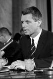 Digitally Restored Vintage Photo of Robert Kennedy Speaking