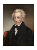 Vintage American History Painting of President Andrew Jackson