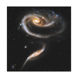 Artist's Painting of Arp 273  a Group of Interacting Galaxies in Andromeda