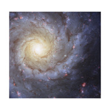 Artist's Painting of Spiral Galaxy Messier 74