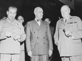 World War II Photo of Joseph Stalin  Harry Truman and Winston Churchill