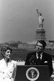 Digitally Restored Photo of President Ronald Reagan and Nancy Reagan