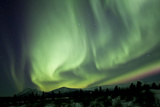 Aurora Borealis over Mountain  Yukon  Canada