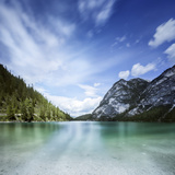 Lake Braies and Dolomite Alps  Northern Italy