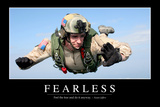 Fearless: Inspirational Quote and Motivational Poster