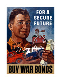 World War II Propaganda Poster of a Farmer Holding His Future
