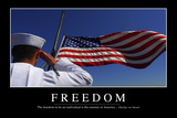 Freedom: Inspirational Quote and Motivational Poster