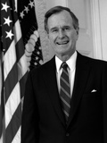 Digitally Restored Photo of President George HW Bush