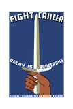 Vintage Wpa Propaganda Poster Featuring a Hand Holding a Sword