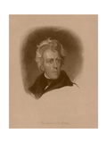 Digitally Restored American History Portrait of President Andrew Jackson