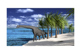 Large Brachiosaurus on the Shoreline