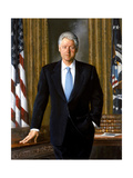 Digitally Restored White House Painting of President Bill Clinton
