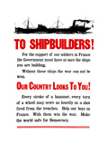 World War II Propaganda Poster Featuring a Ship Steaming Along