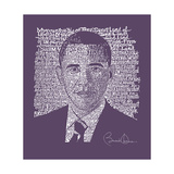 Obama 2012 Face in Purple