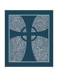 Cross Angels in Dark Blue  Slate