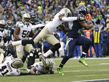 NFL Playoffs 2014: Jan 11  2014 - Saints vs Seahawks - Marshawn Lynch