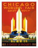 Chicago World's Fair - A Century of Progress  1833-1933