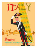Italy via Jet Clipper - Pan American World Airways