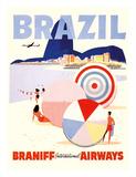 Rio de Janeiro Brazil - Braniff International Airways Giclée