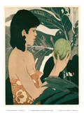 Breadfruit Hawaii - Bookplate from Etchings and Drawings of Hawaiians