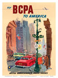 New York City - Fly BCPA to America - British Commonwealth Pacific Airline