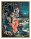Lord Krishna The Enchanter - God of Love Playing his Flute